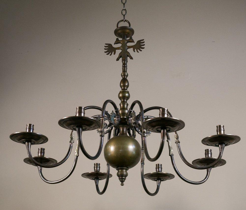 Un-wired Antique Bronze Chandelier