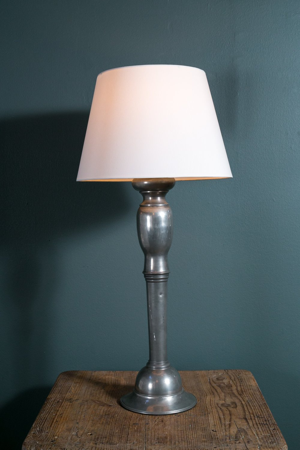Pewter Table Lamp with Shade