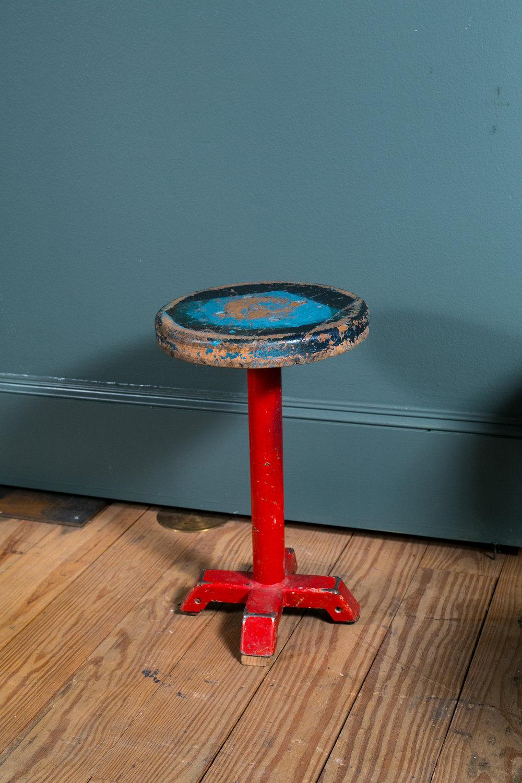 Vintage Painted Belgian Stool