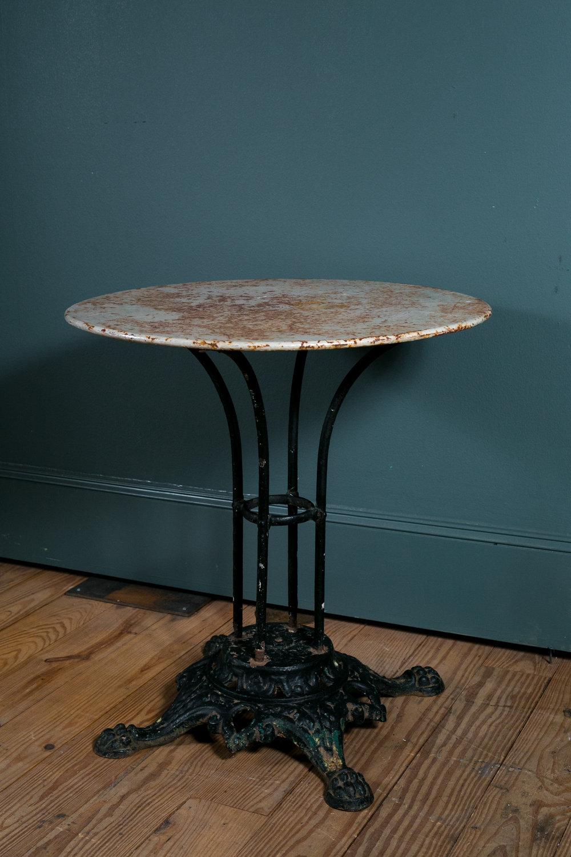 Antique Bistro Table, France Circa 1890