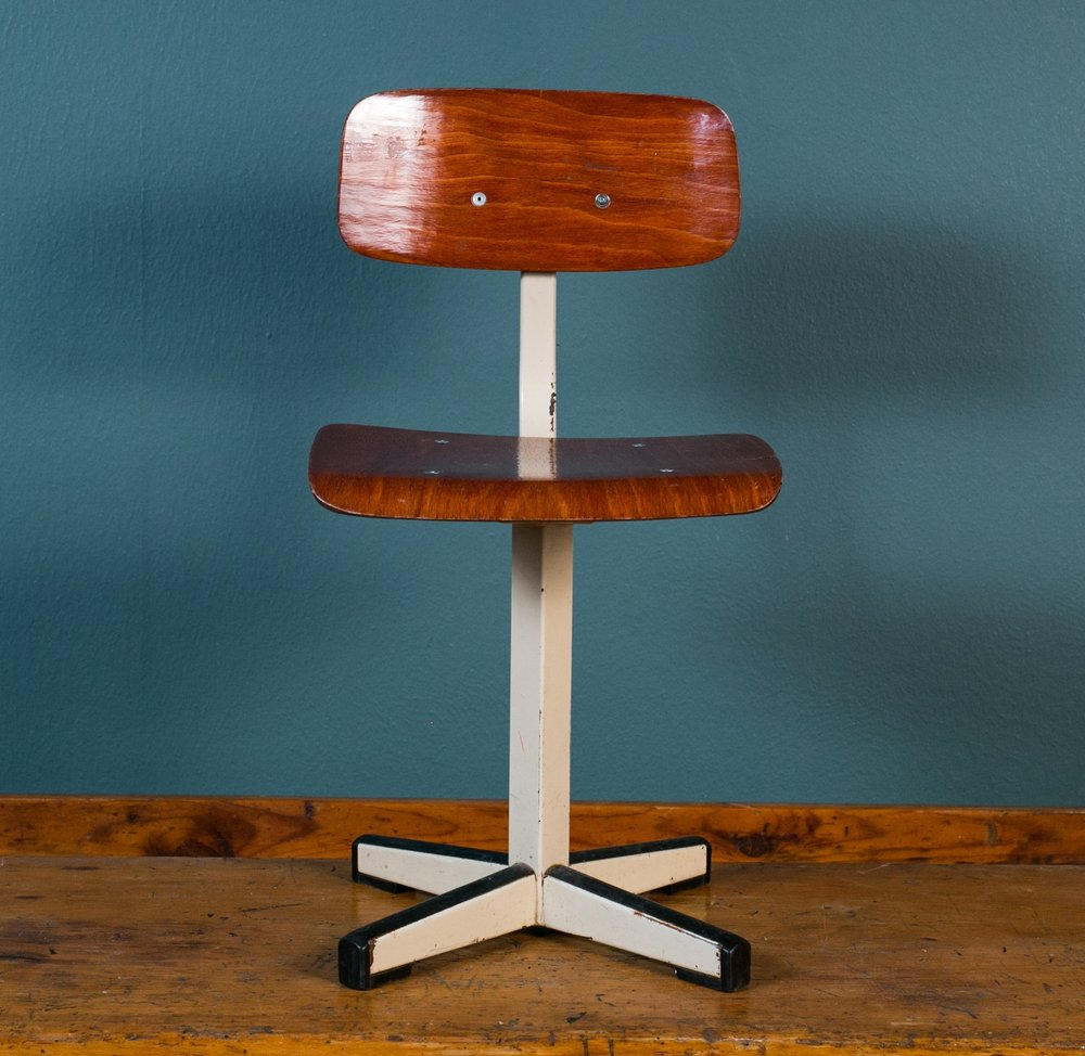 Two Mid-Century Industrial Children's Chairs