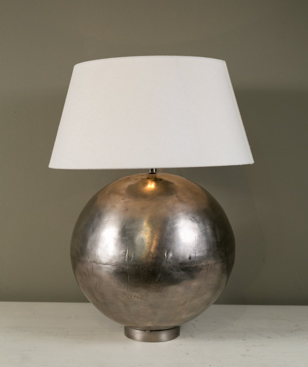 Polished Metal Belgian Table Lamps