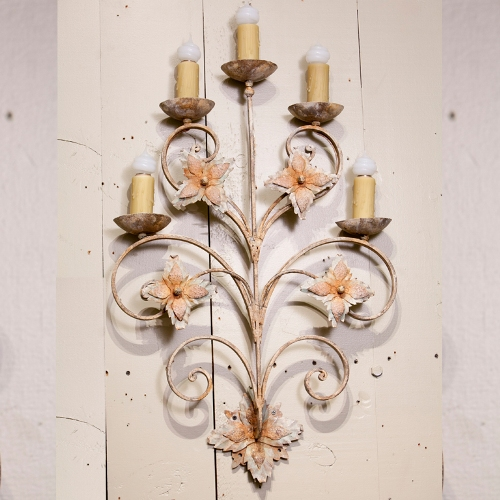 "Grand Tole Five-Light ""Duval"" Sconce"