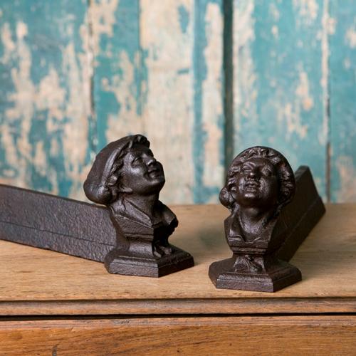 Pair of Antique Figural Andirons