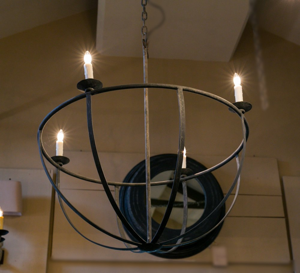 "Hand-made Iron ""Pike"" Chandelier"