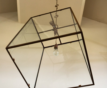 "Custom-Made, Iron and Glass, Single-Bulb ""Lorain"" Lantern"