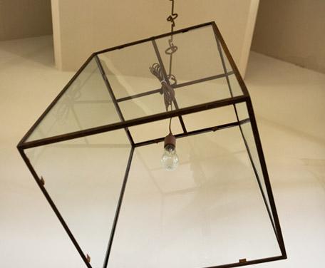 "Custom-Made, Iron and Glass, Single-Bulb ""Lorain"" Lantern"