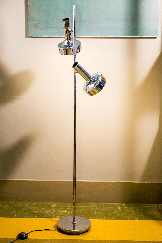 Vintage Mid Century Modern Chrome Floor Lamp