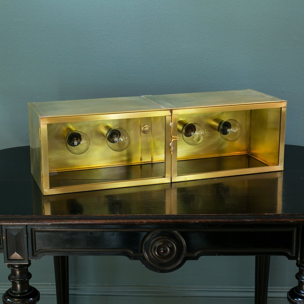 "Solid Brass ""Wichita""Vanity Light"