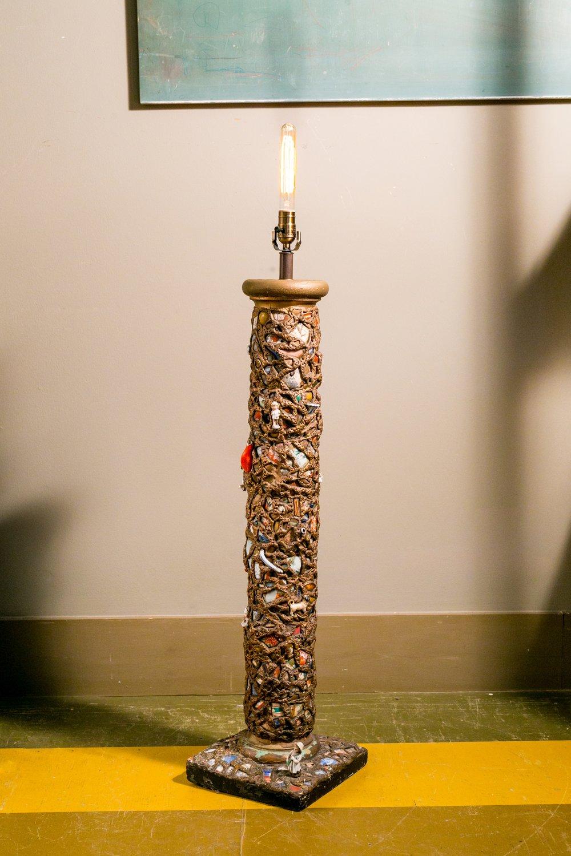 Antique French Pique Assiette Floor Lamp