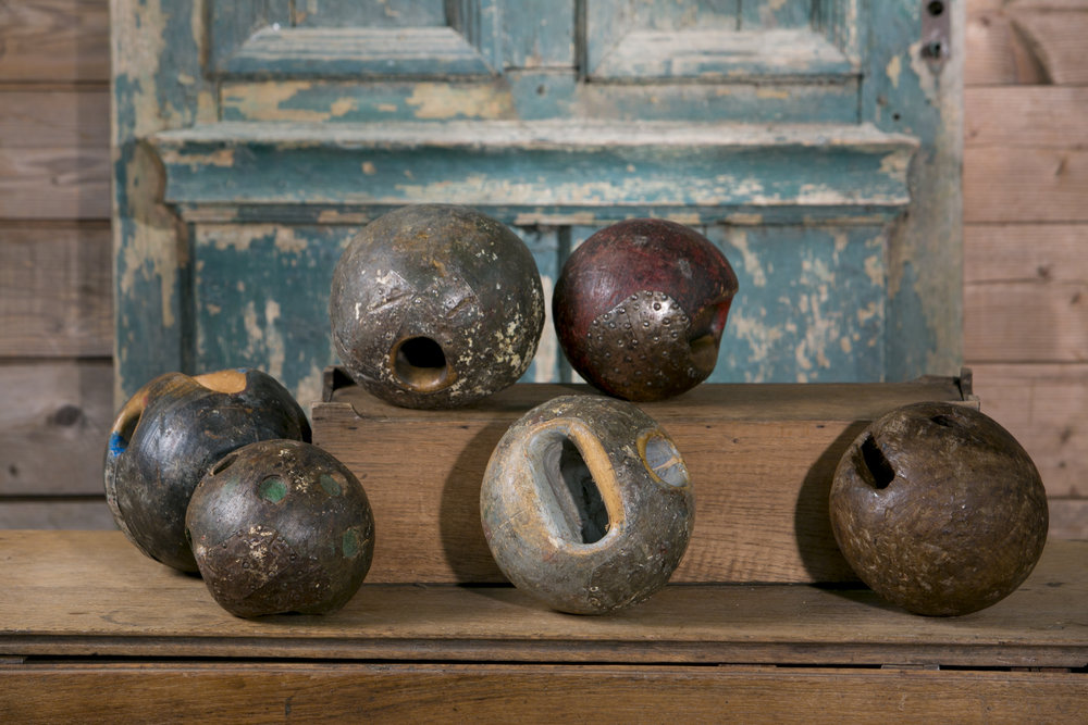 Antique Wooden Game Balls