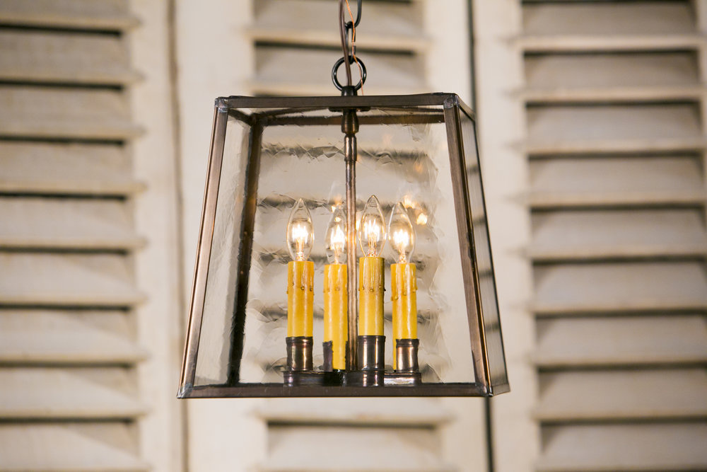 "Hand-Crafted American Trapezoid Brass ""Ashland"" Lantern"
