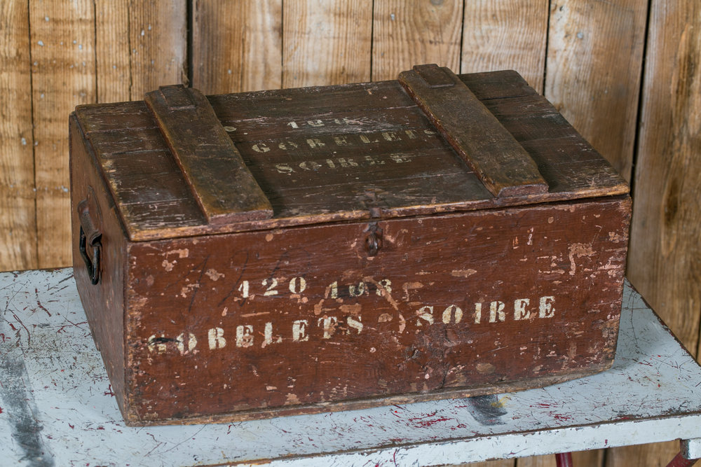 Campaign Chest with Vintage Glasses