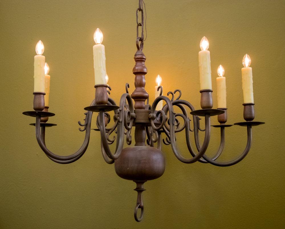 Classic Heavy Flemish Bronze Chandelier