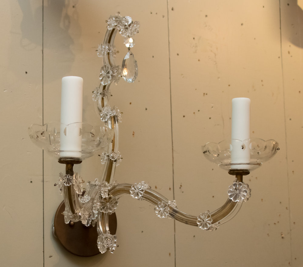Pair, Vintage French, Maria Theresa Style Sconces