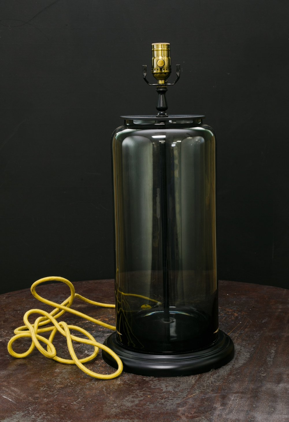 One of a Kind Ombre Smoked Glass Table Lamp