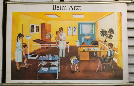 Vintage German Chart of Children's Doctor Visit