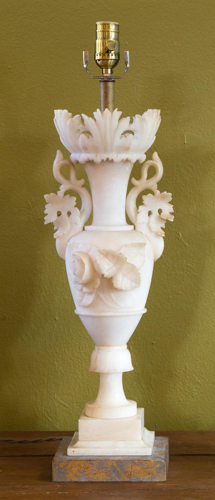Italian Alabaster Table Lamp, circa 1920