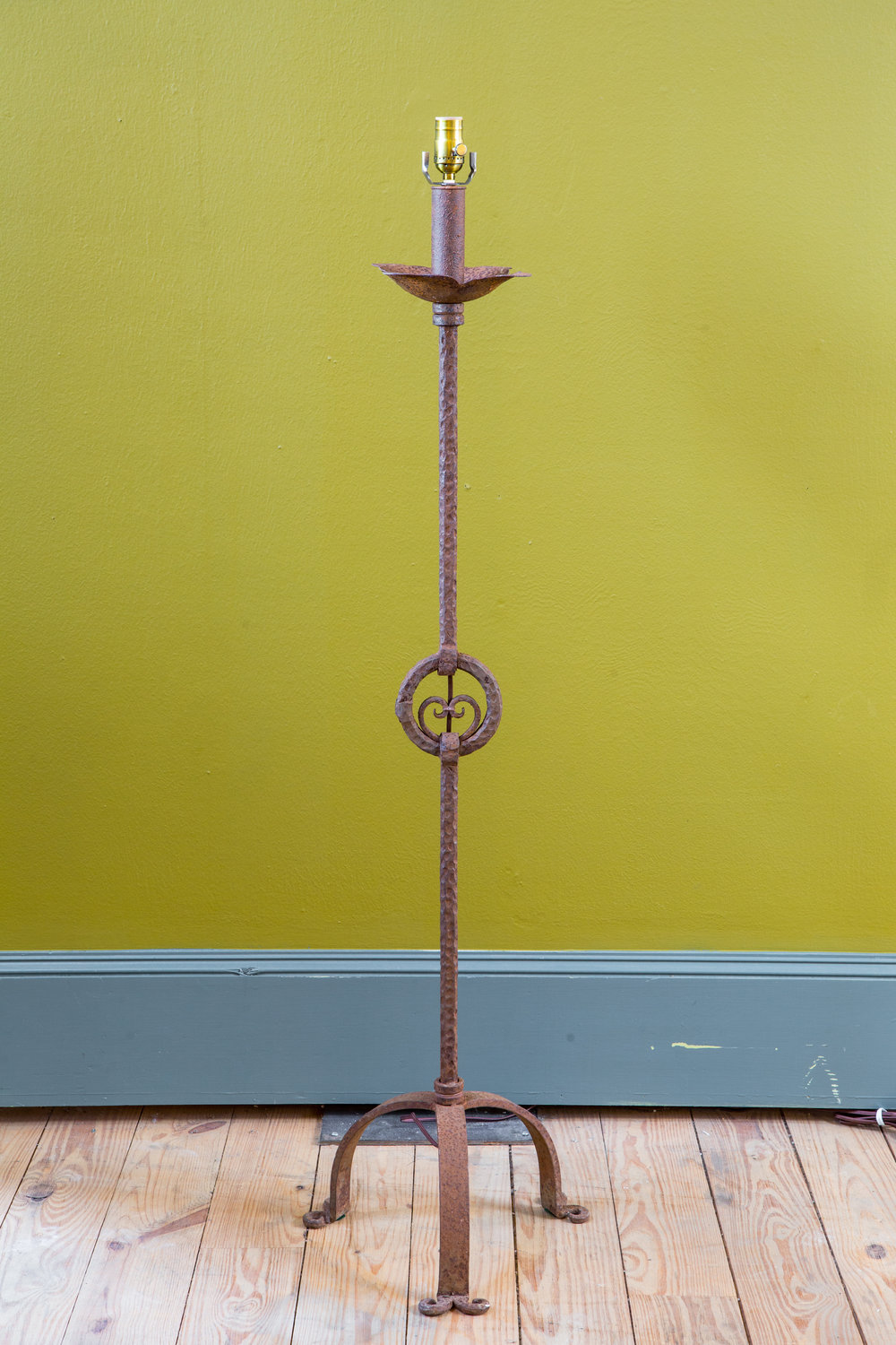 One of a Kind Iron Floor Lamp