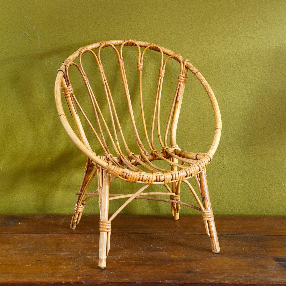 Bamboo/Rattan Child's Chair