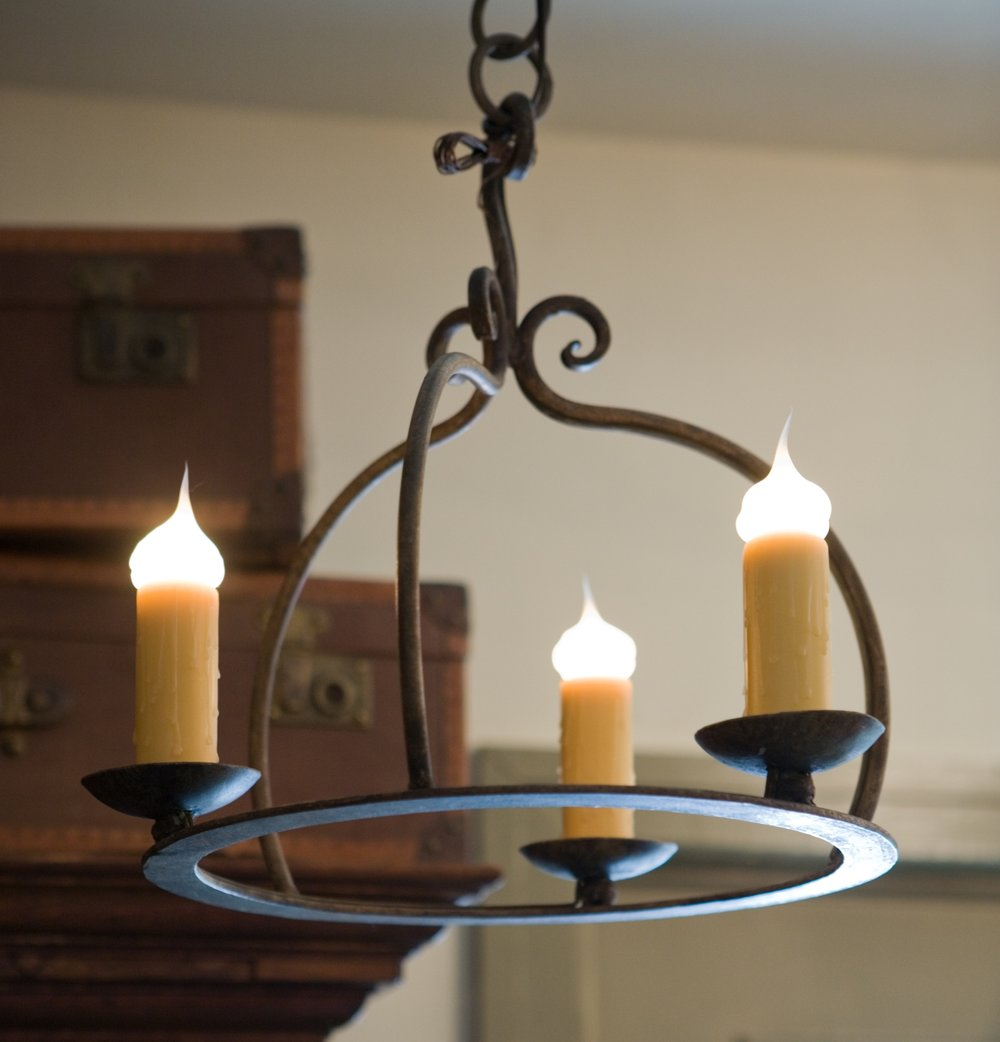"""Hand-Forged Iron """"Miami"""" Chandelier"""