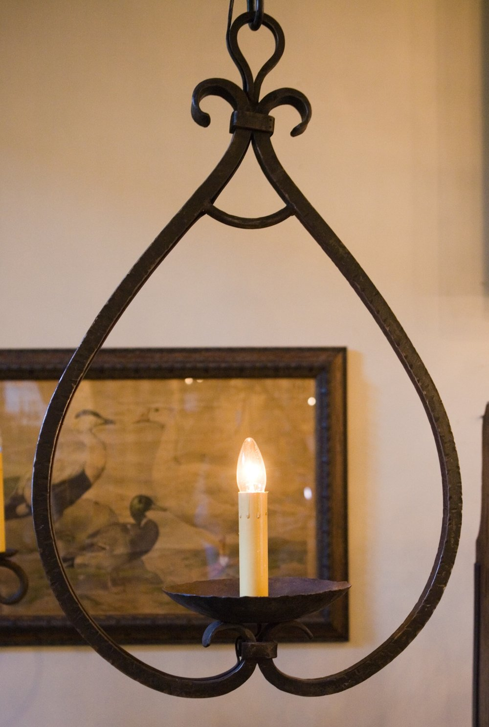 """Hand-Forged, Wrought-Iron """"Mahoning"""" Pendant"""