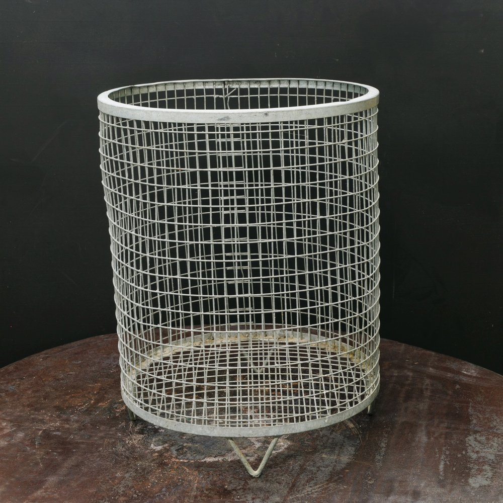 Large Belgian Wire Basket on Feet