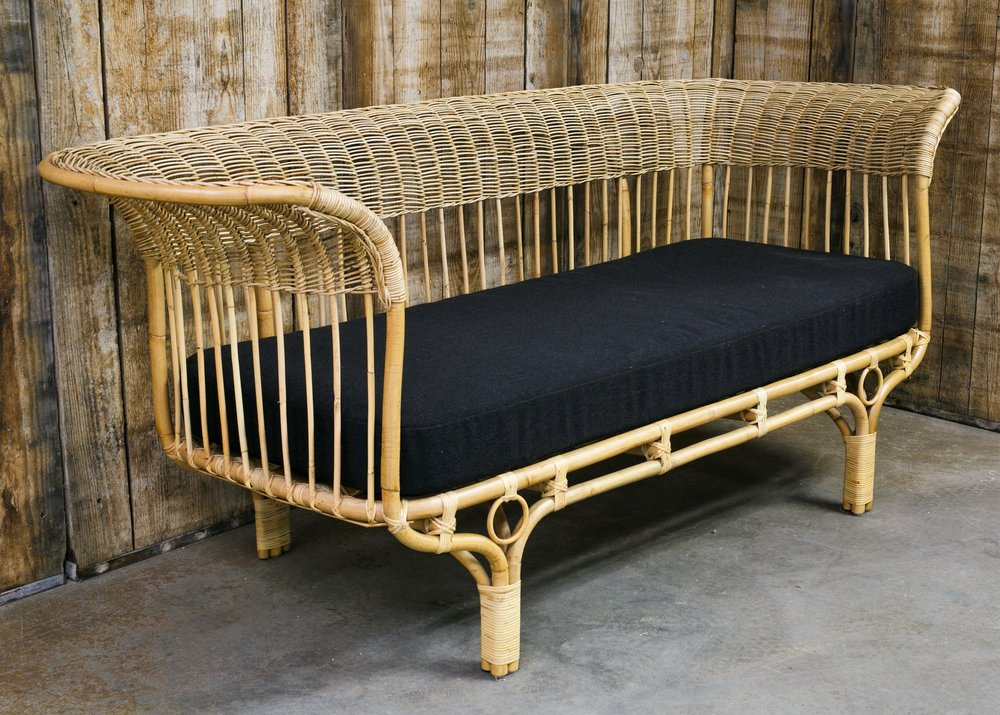 Rattan Sofa, Designed by Franco Albini