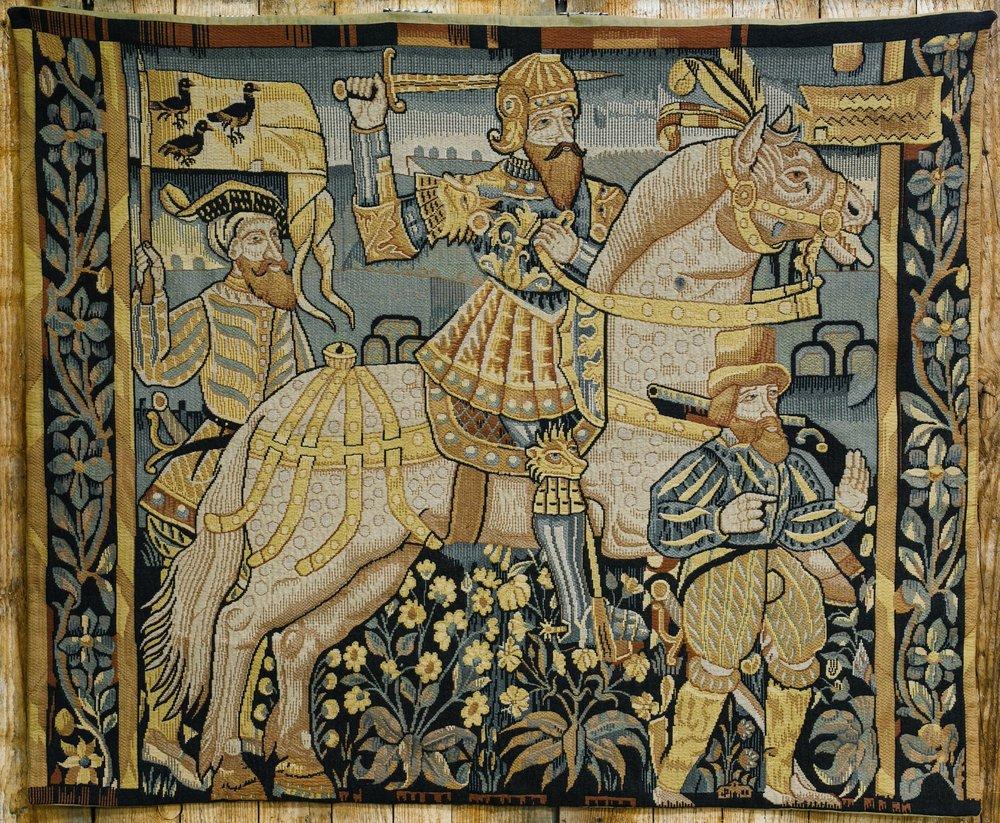 Vintage Circa 1940's Belgian Scenic Tapestry