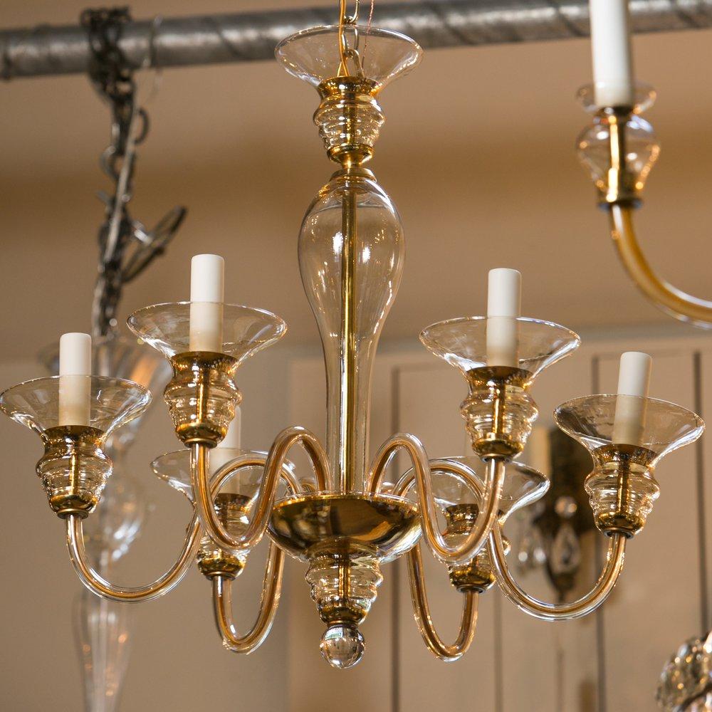 Murano Clear Glass Chandelier