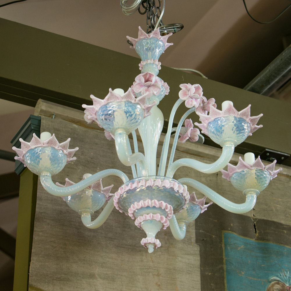 Vintage Hand-Blown Murano Chandelier