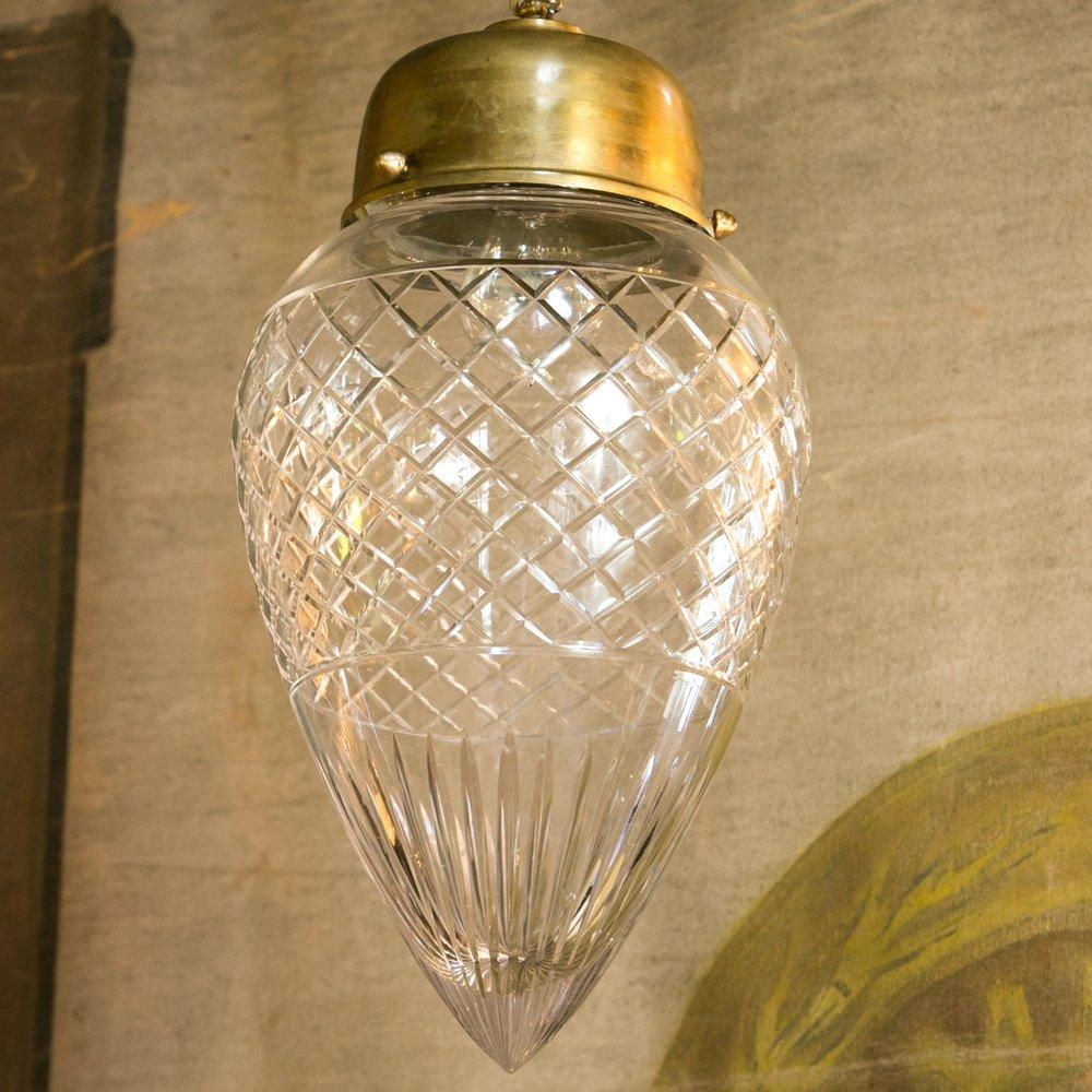 Antique Cut Glass Pendant