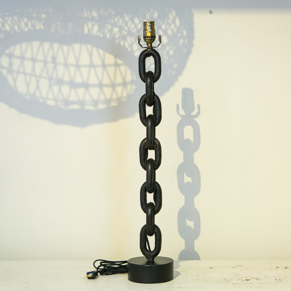 Handmade Iron Chain Table Lamp
