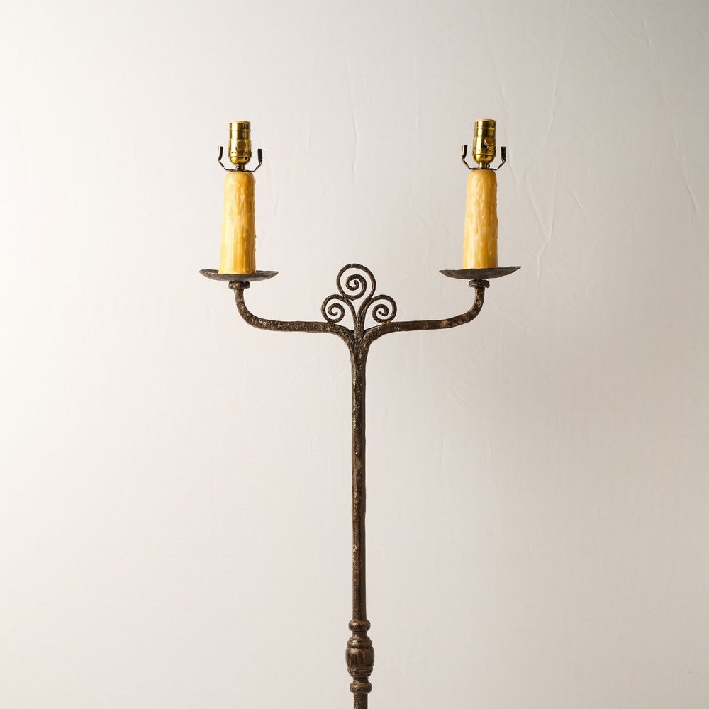 Two-Socket Candle Stand Floor Lamp