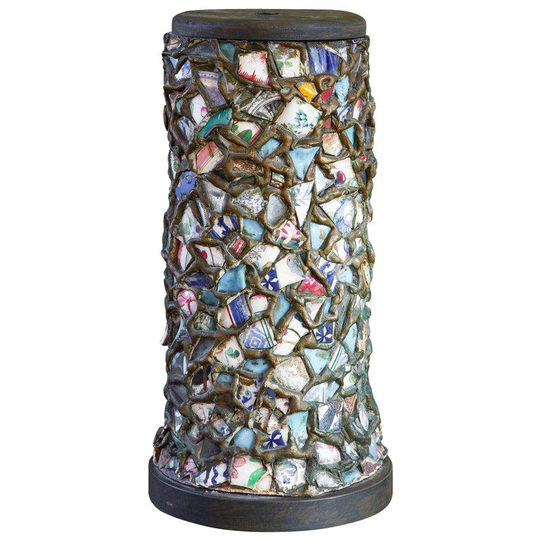 Hand-Made Porcelain China Mosaic Table Lamp, circa 1940