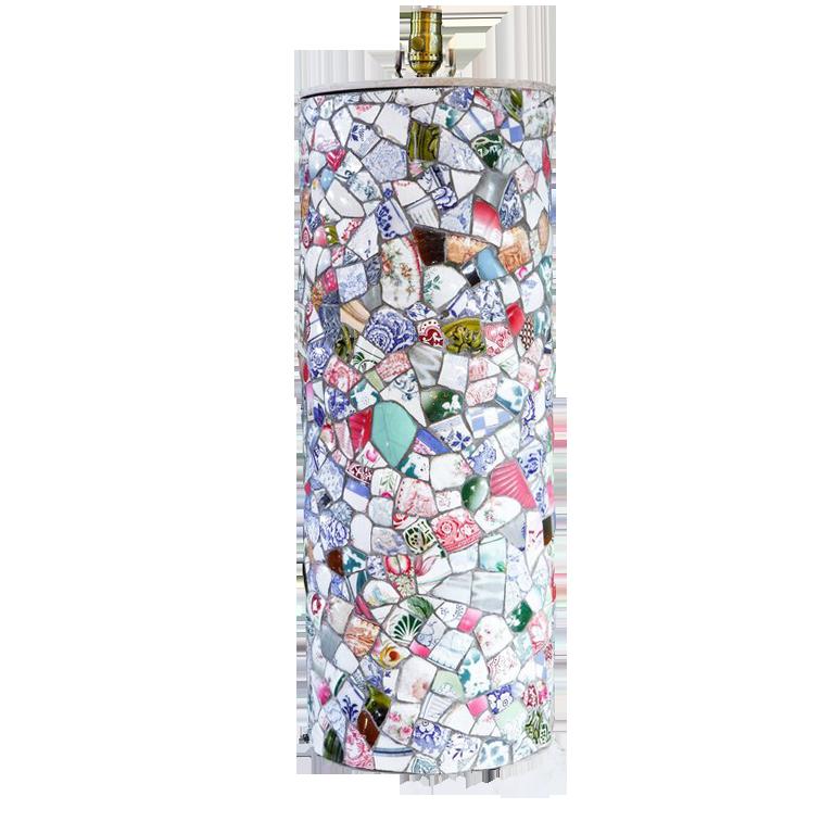 Tall Charming Mosaic Table Lamp