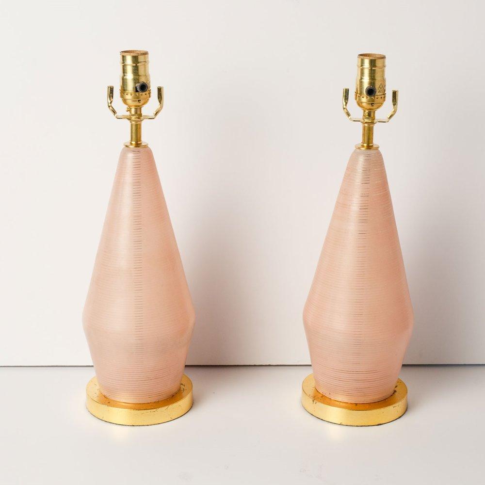 Pair of Mid-Century Murano Lamps