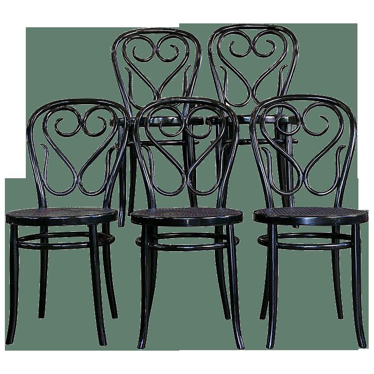 Set of Five Bentwood Bistro Chair