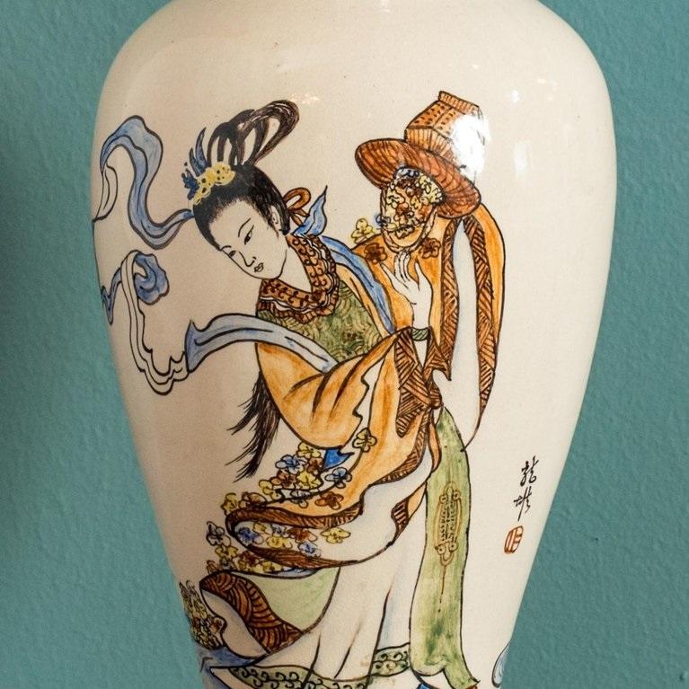 Antique Chinese Export Vase Lamp