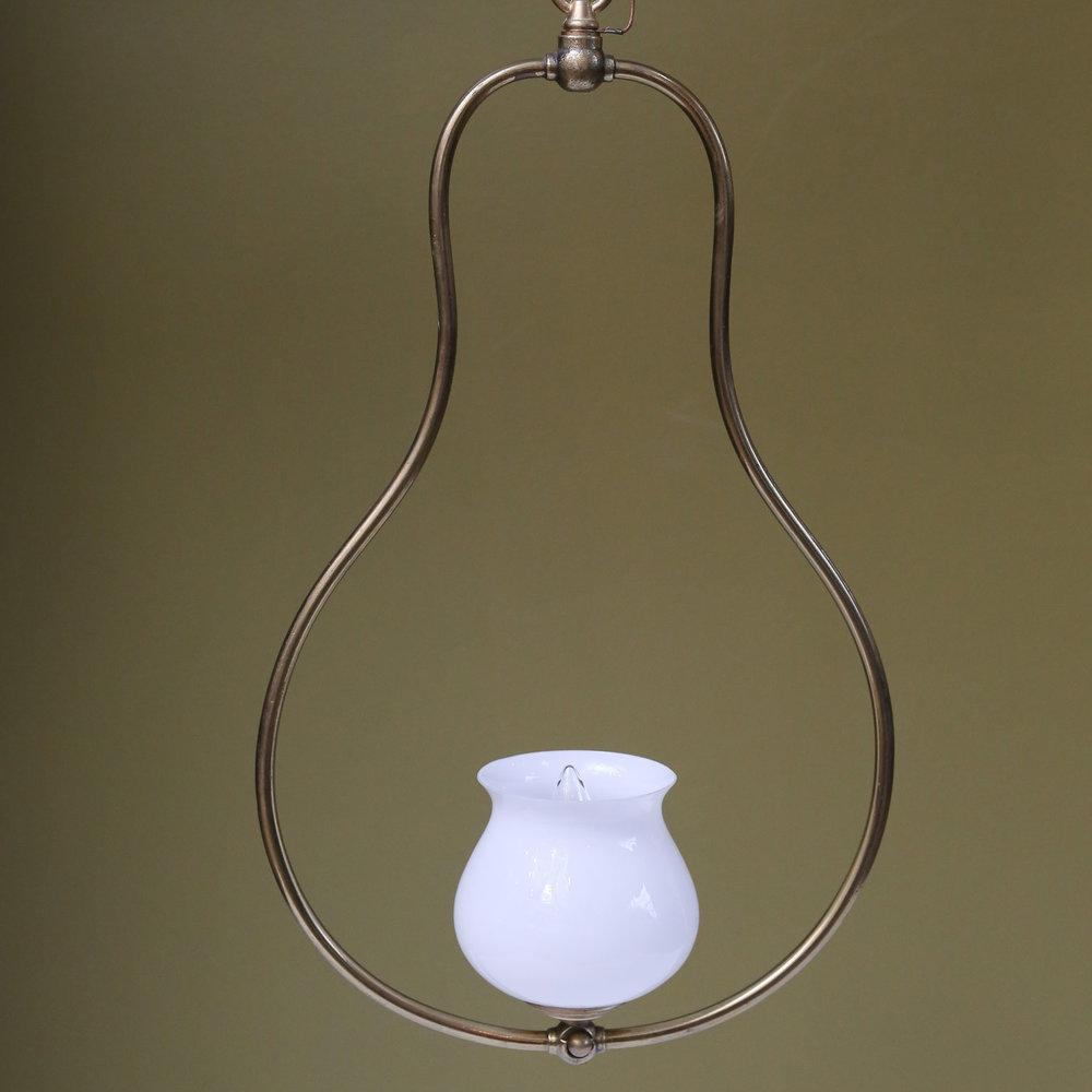 Single Light Brass Hall Lantern