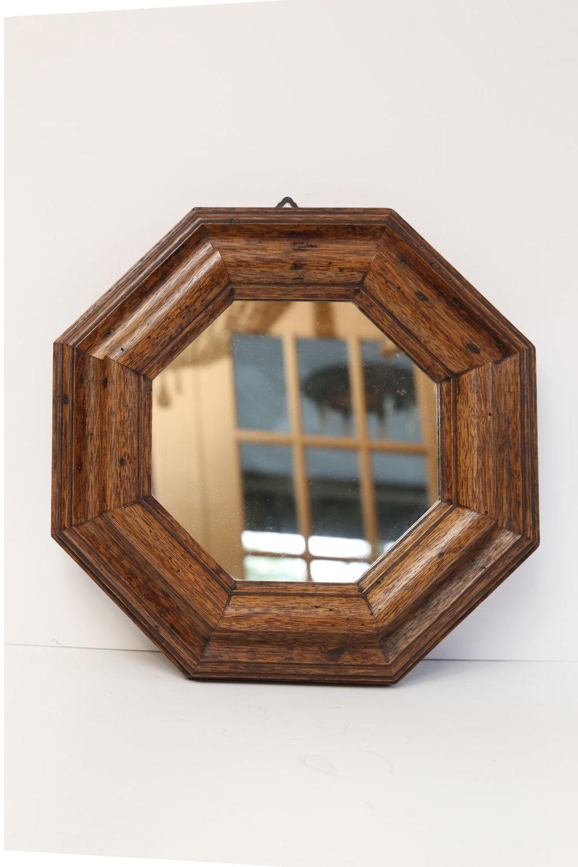 Italian Vintage Hexagonal Mirror