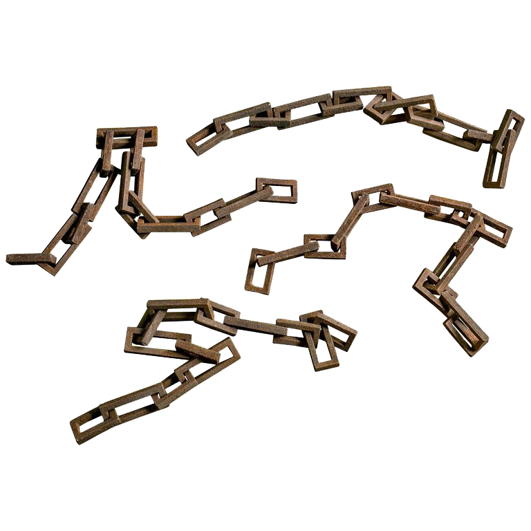 Antique French Iron Chain