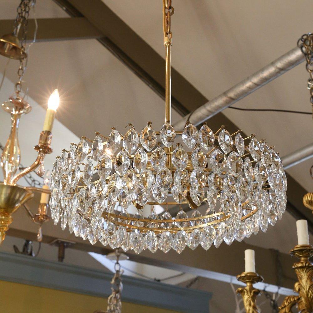 Vintage Austrian Palwa Crystal Chandelier