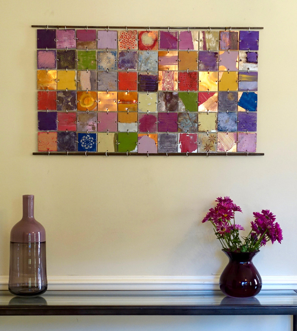 """36""""w x 20""""h. Private collection."""