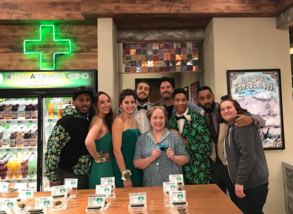 "Kathy Bates and the rest of the ""Disjointed"" cast!"