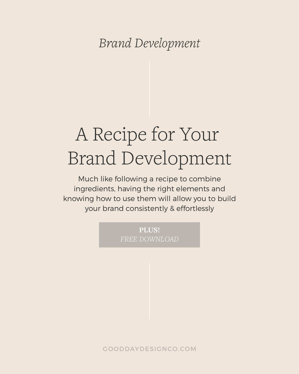A Recipe for Your Branding