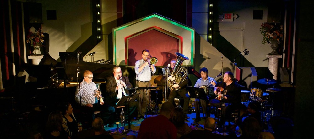 Boomtown Brass Band performing at Ovations Night Club in April 2016