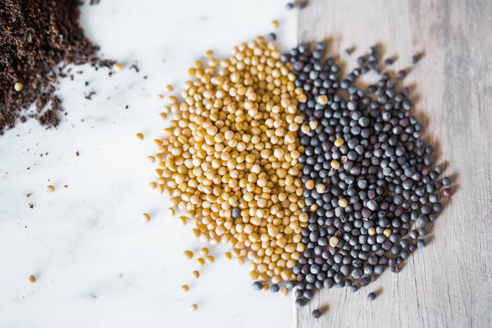 mustard seeds.