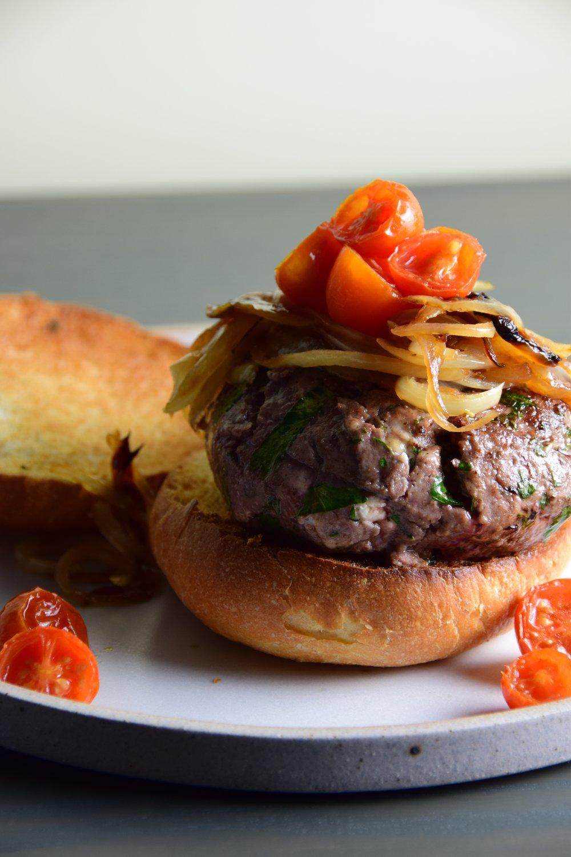 za'atar lamb burger.