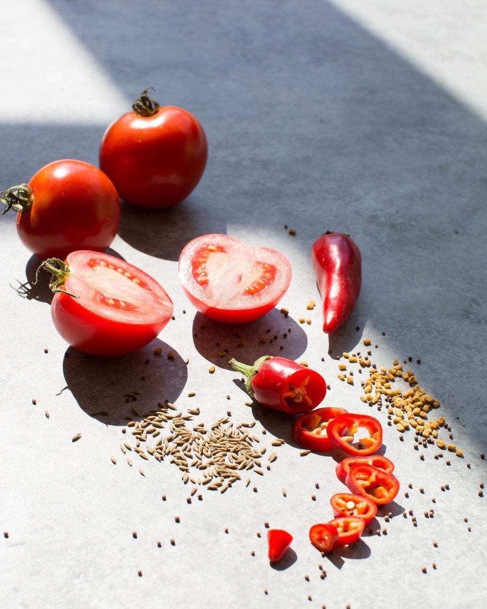 sweet heat tomato.